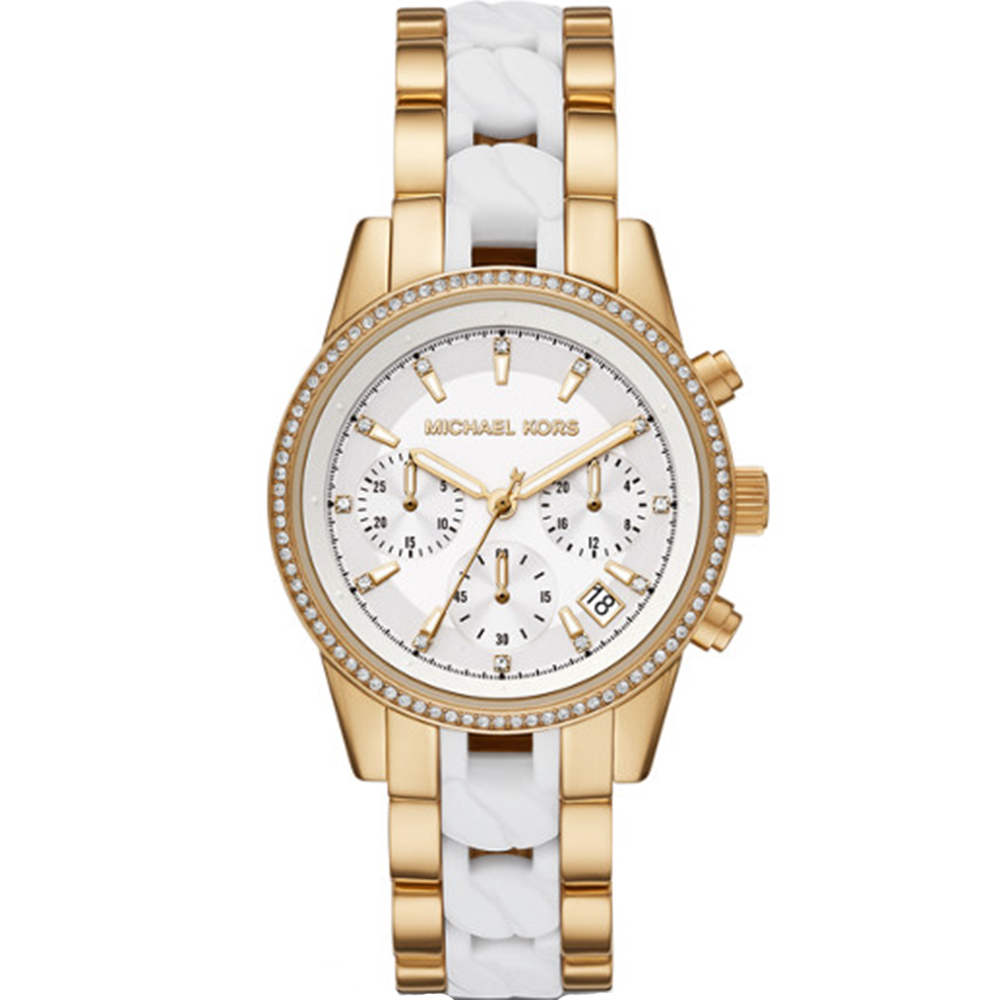 Michael Kors Ritz MK6939 Chronograph Two Tone Womens Watch
