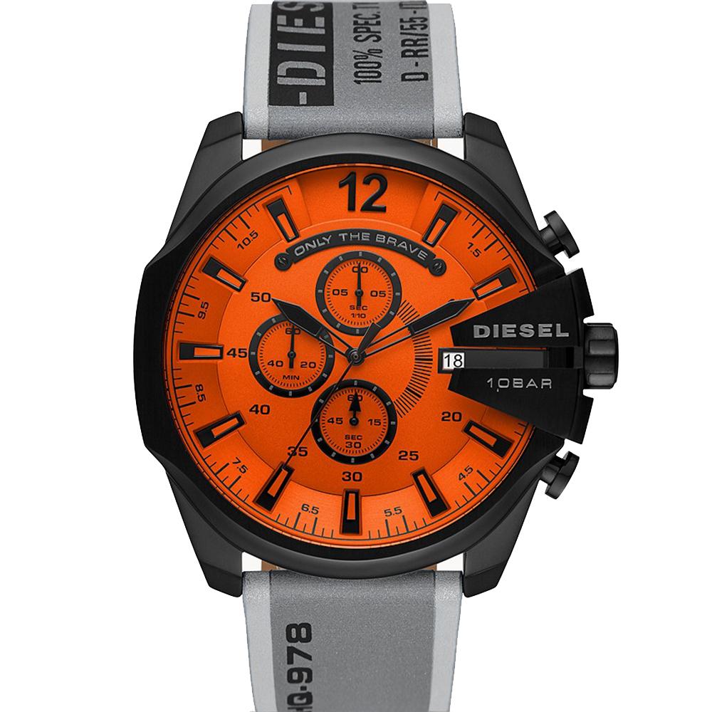Diesel Mega Chief Orange Chronograph DZ4535