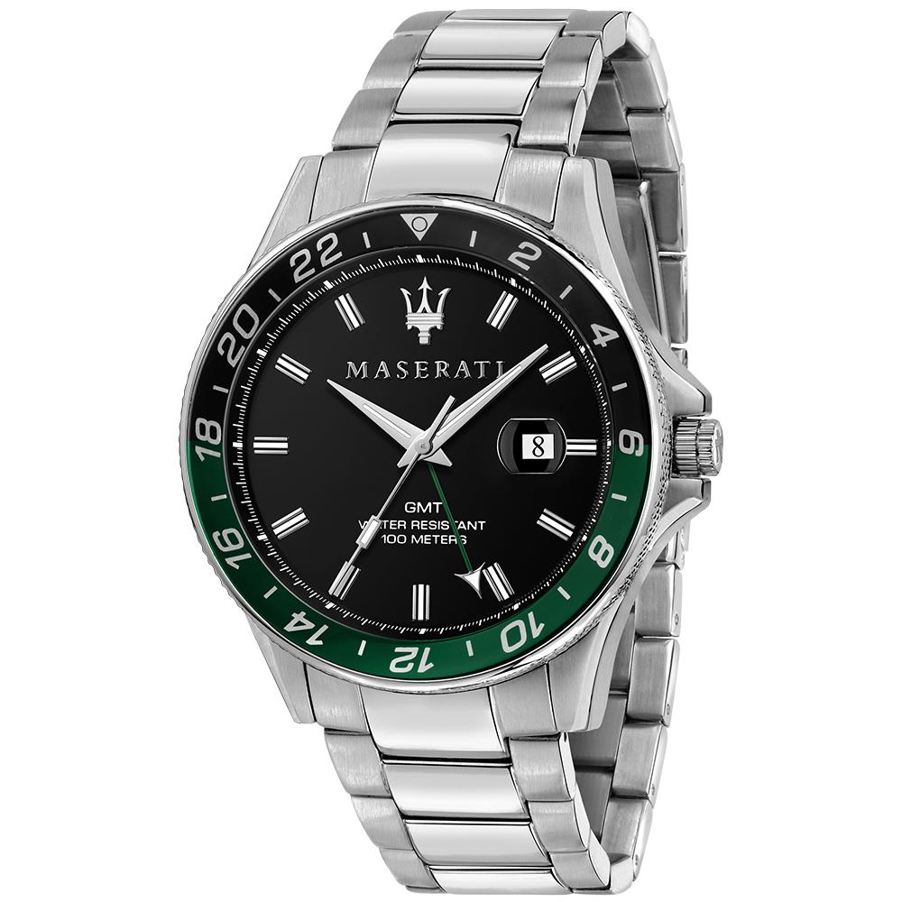 Maserati R8853140005 Sfida Black Dial Mens Watch