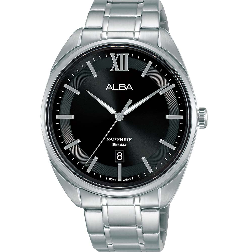 Alba AS9M51X1 Black Dial Stainless Steel Mens Watch