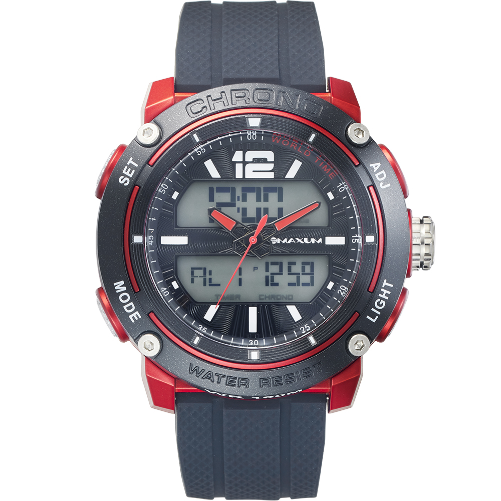 Maxum Conquest X2013G1 Black and Red Watch