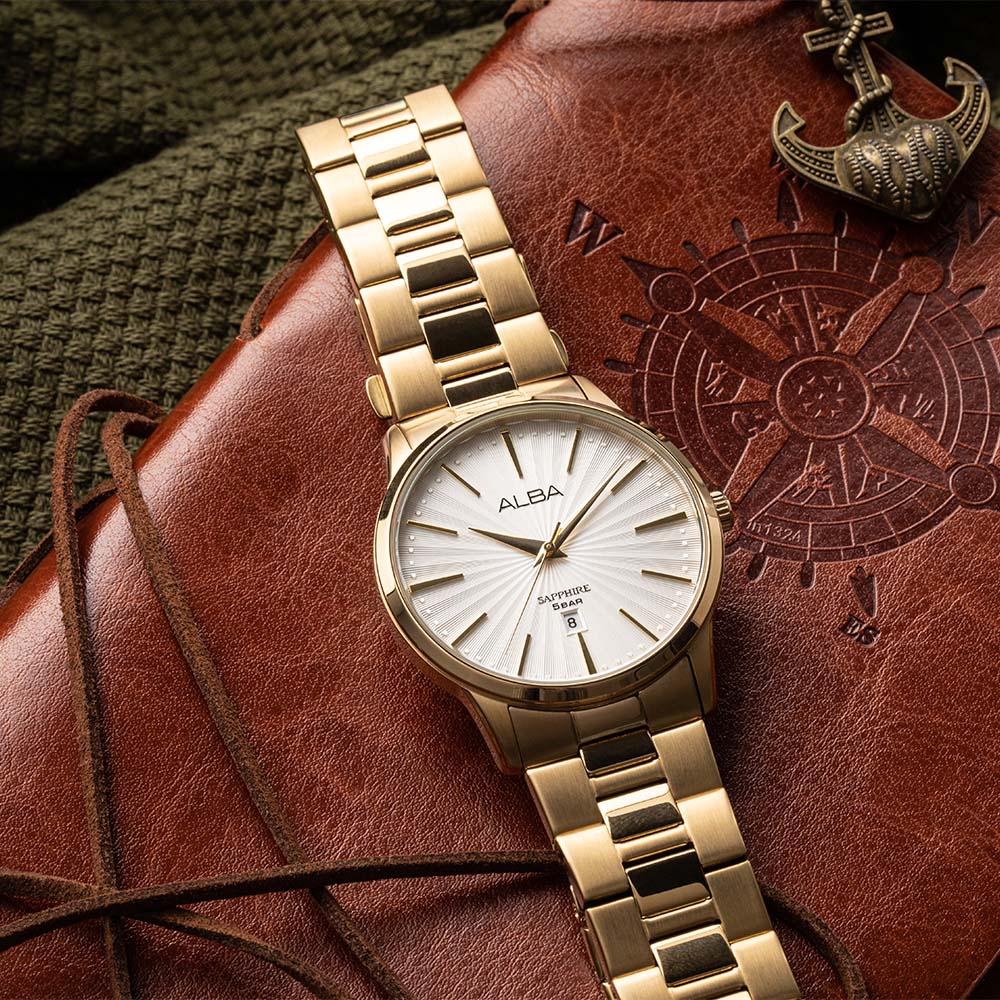 Alba AG8K80X1 Gold Tone Mens Watch