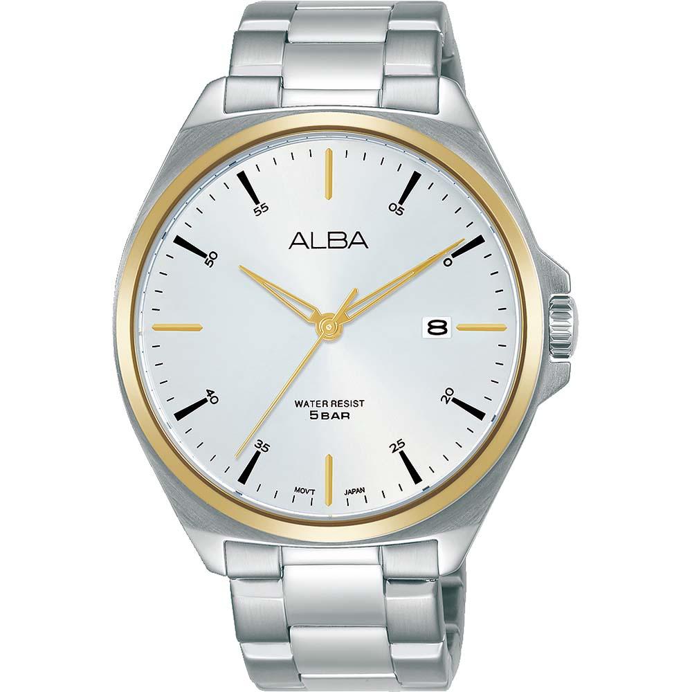 Alba AS9M64X1 Rose Bezel Stainless Steel Mens Watch