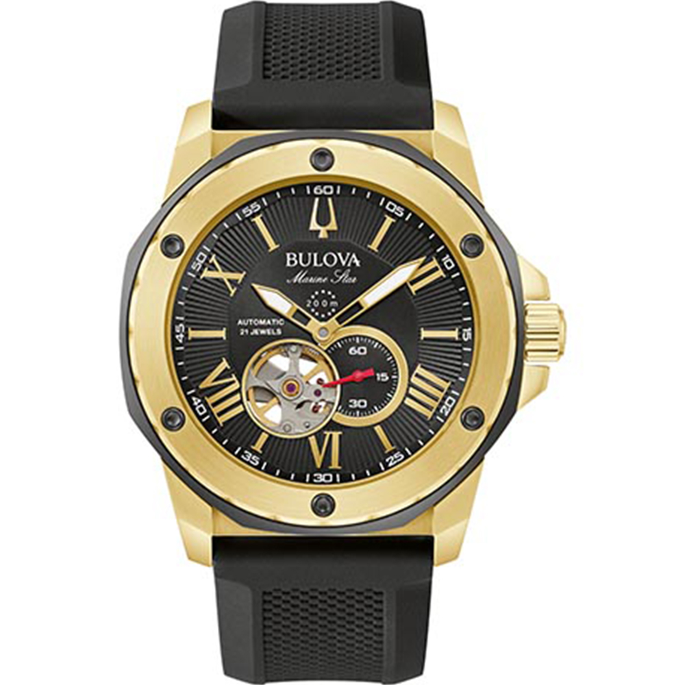 Bulova 98A272 Marine Star Automatic Stainless Steel & Silicone