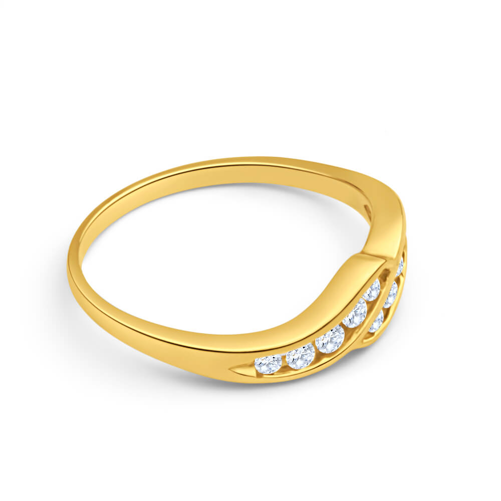 9ct Yellow Gold Magnificent Cubic Zirconia Ring
