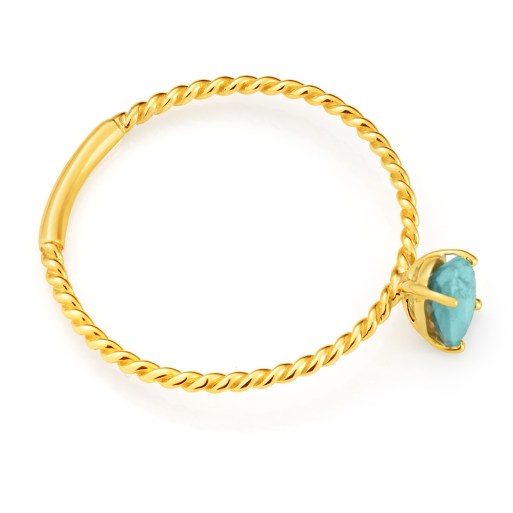 9ct Yellow Gold Turquoise Ring