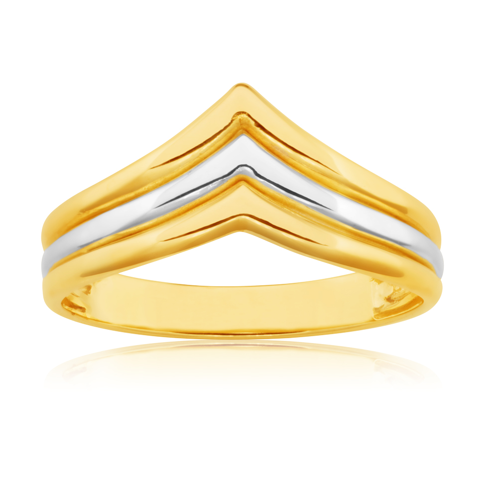 9ct Two Toned Fancy Dress Ring