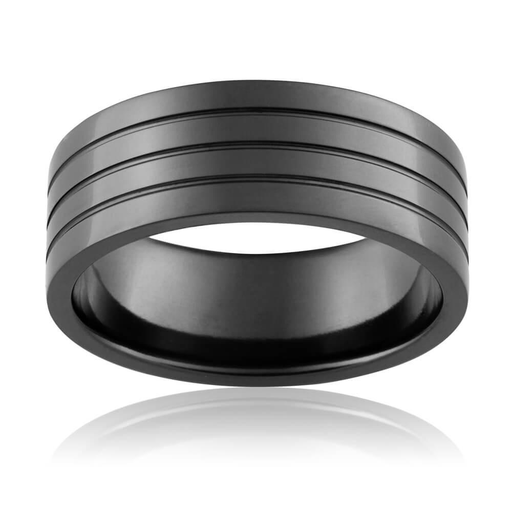 Zirconium 8mm Ezi Fit Gents Ring All Sizes