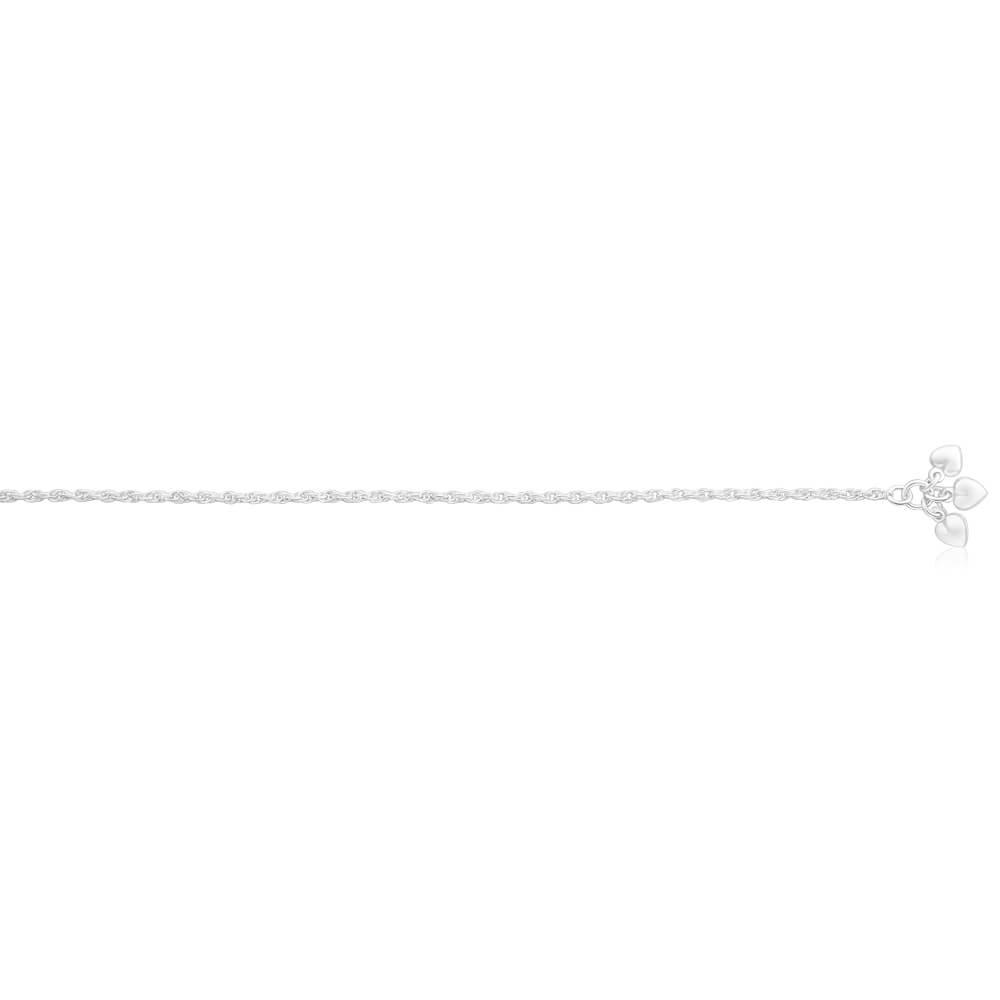 Sterling Silver Rope Anklet