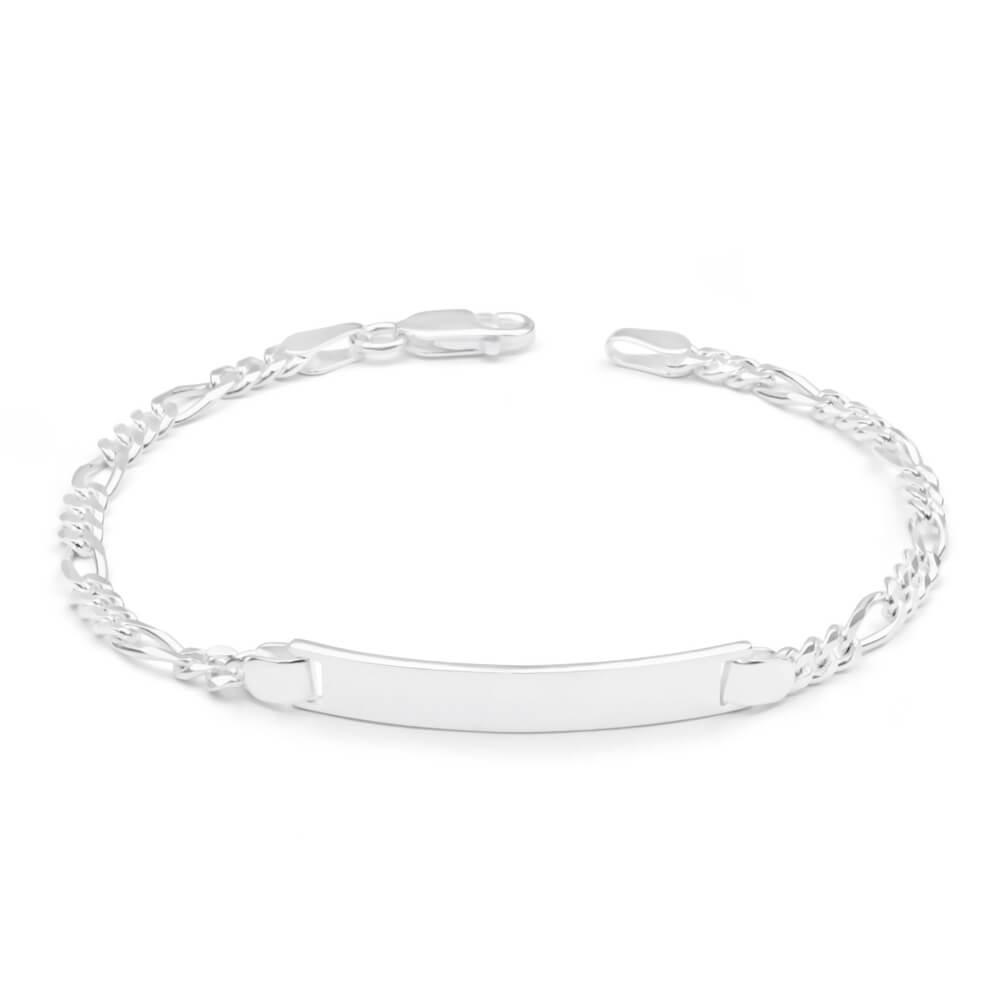 Sterling Silver Figaro 1:3 ID Bracelet in 19cm