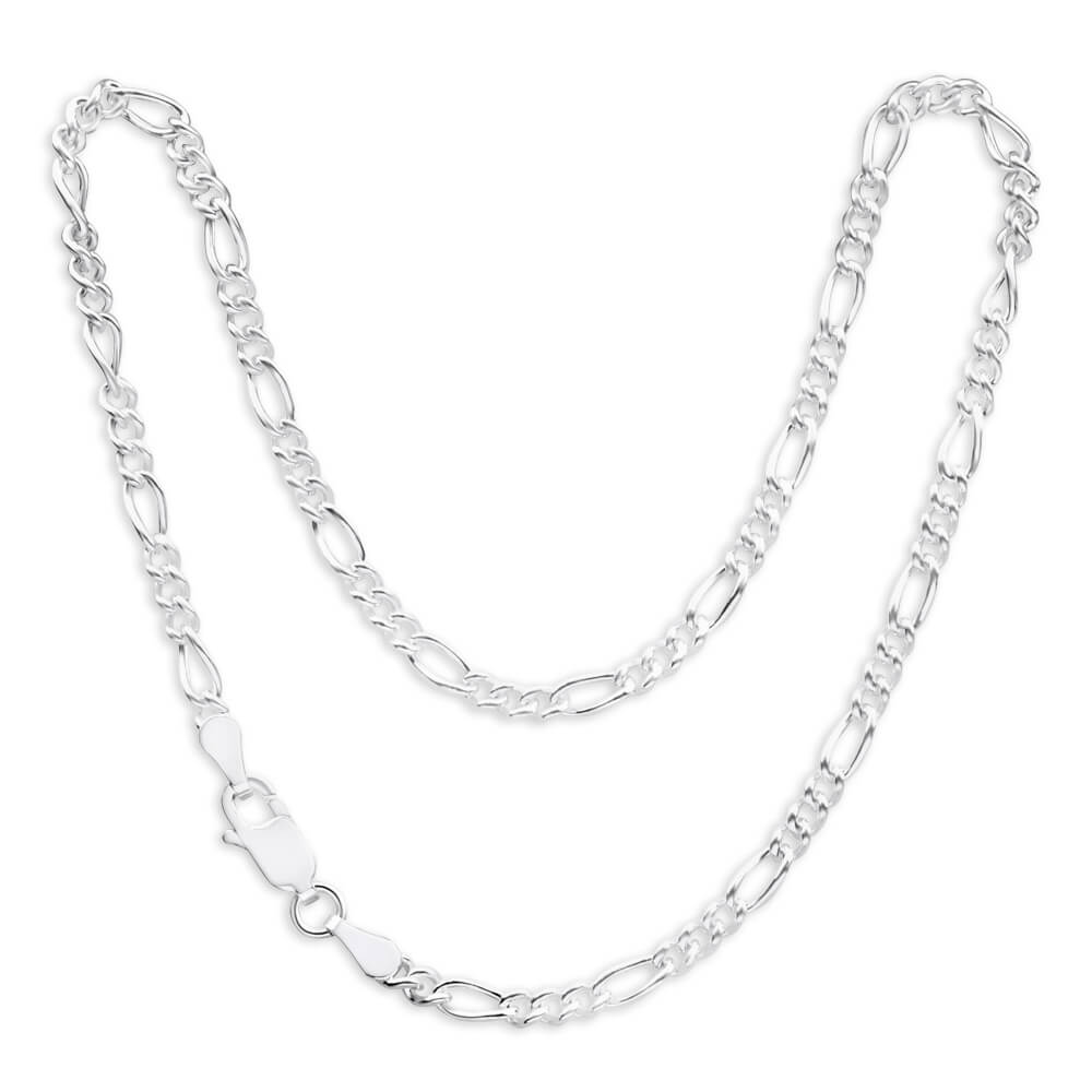 Sterling Silver Figaro Dicut Anklet 27cm
