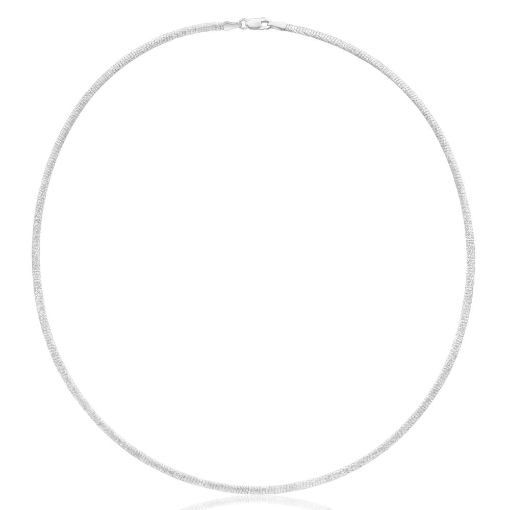 Sterling Silver Omega 2.5mm Necklace 45cm