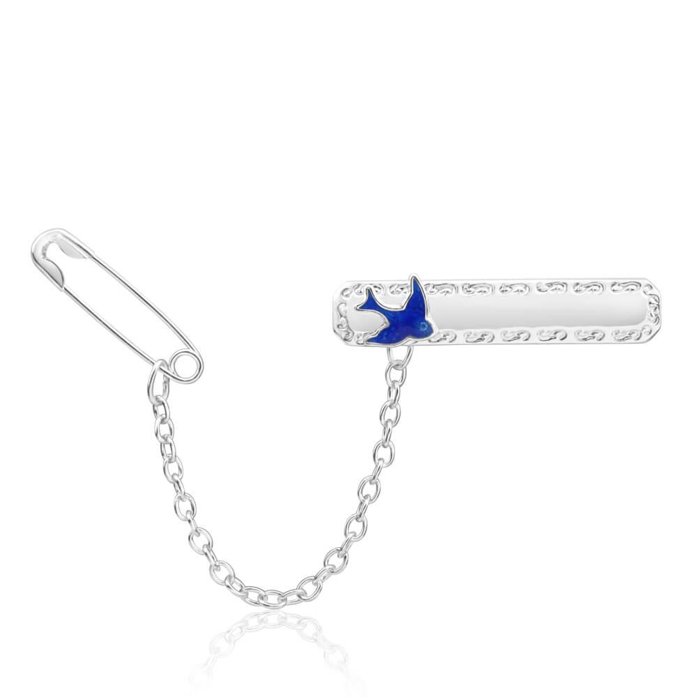 Sterling Silver Bluebird Brooch