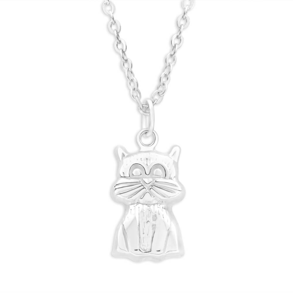 Sterling Silver Sitting Cat Pendant
