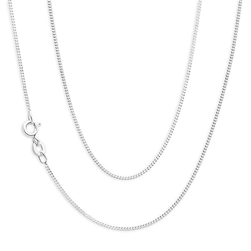 Sterling Silver 30 Gauge 40cm Curb Chain