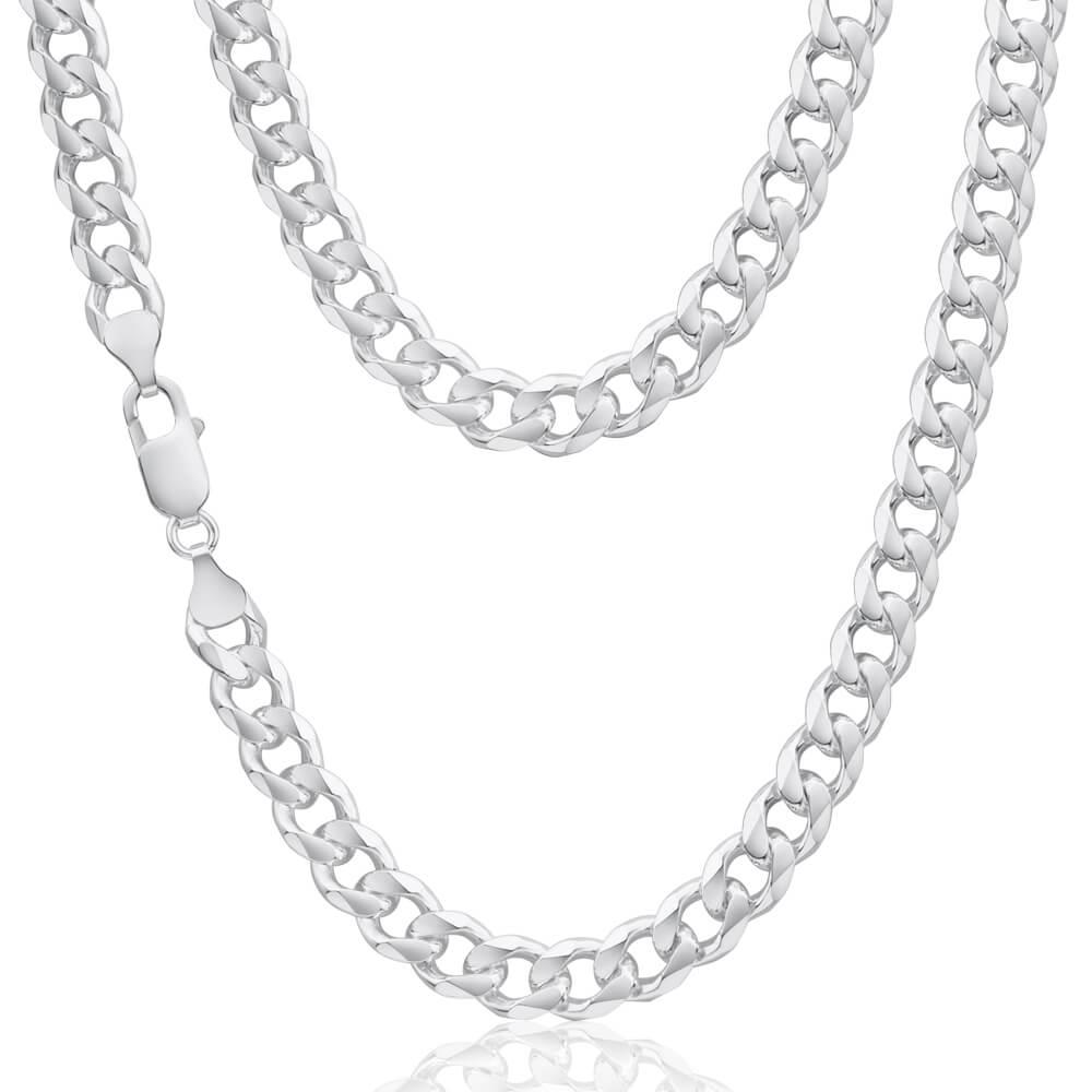 Sterling Silver Dicut Curb Link 220 Gauge Chain 55cm