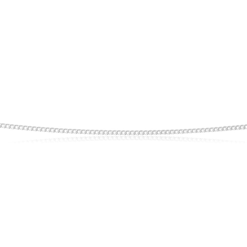 Sterling Silver 30 Gauge 45cm Curb Chain