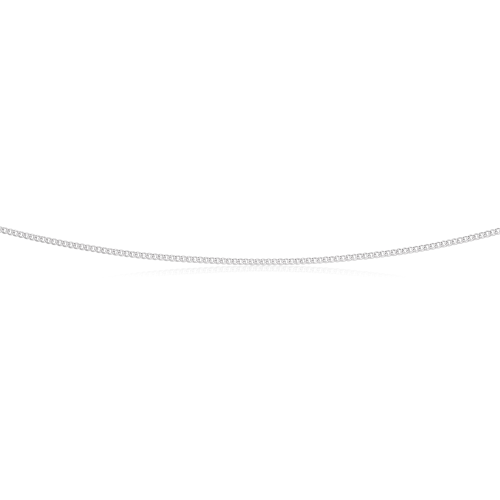 Sterling Silver 45cm 40 Gauge Curb Chain