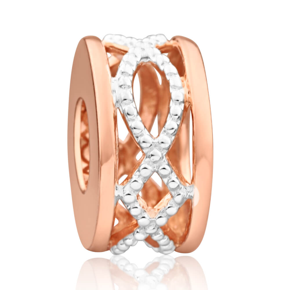 Amadora Rose Gold Plated Sterling Silver Charm
