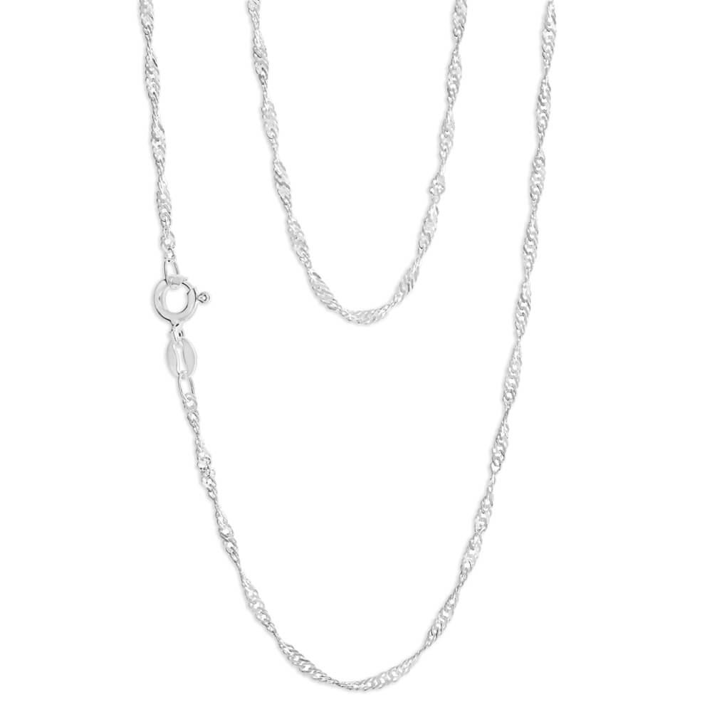 Sterling Silver Singapore 30 Gauge 45cm Chain