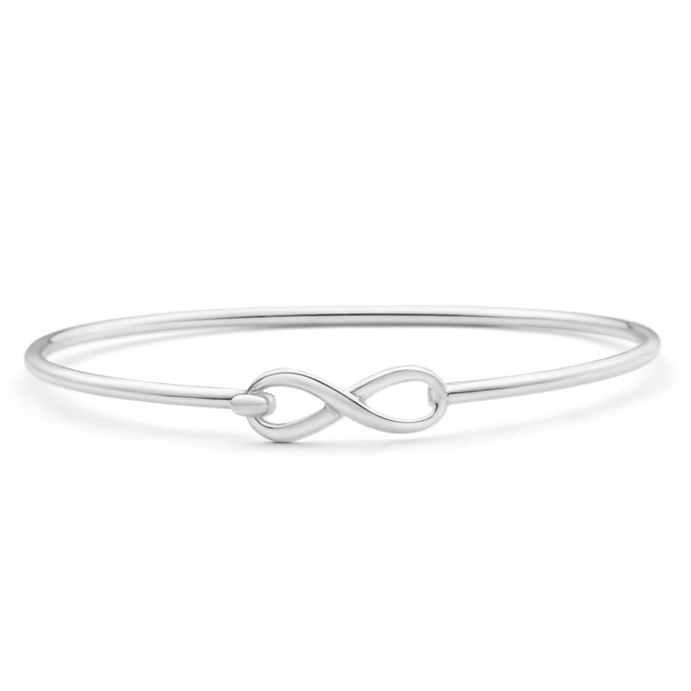 Sterling Silver Infinity 60mm Bangle