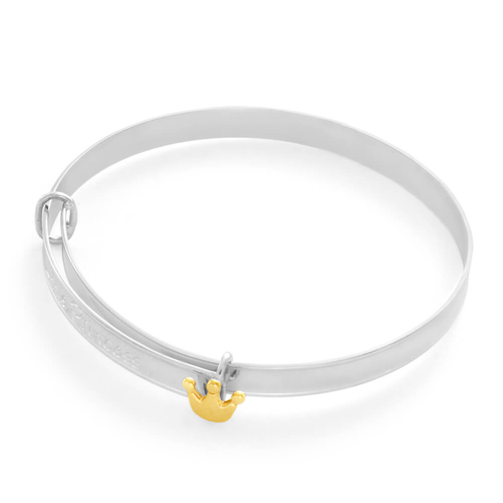 Sterling Silver Little Princess Expandable Baby Bangle
