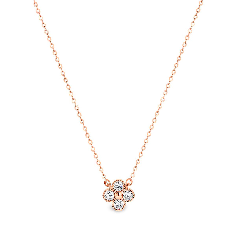 Georgini Bianca Zirconia Rose Gold Plated Sterling Silver Pendant