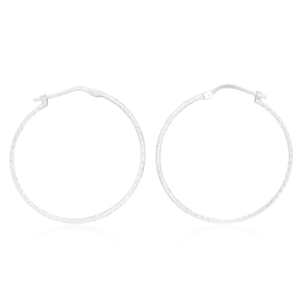 Sterling Silver 30mm Hoop Earrings
