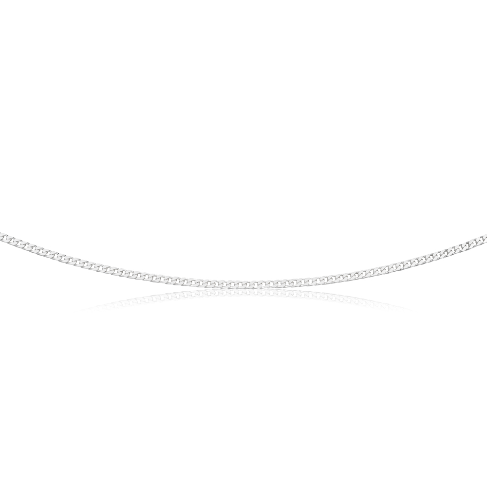 Sterling Silver Curb Chain 80 gauge 55cm