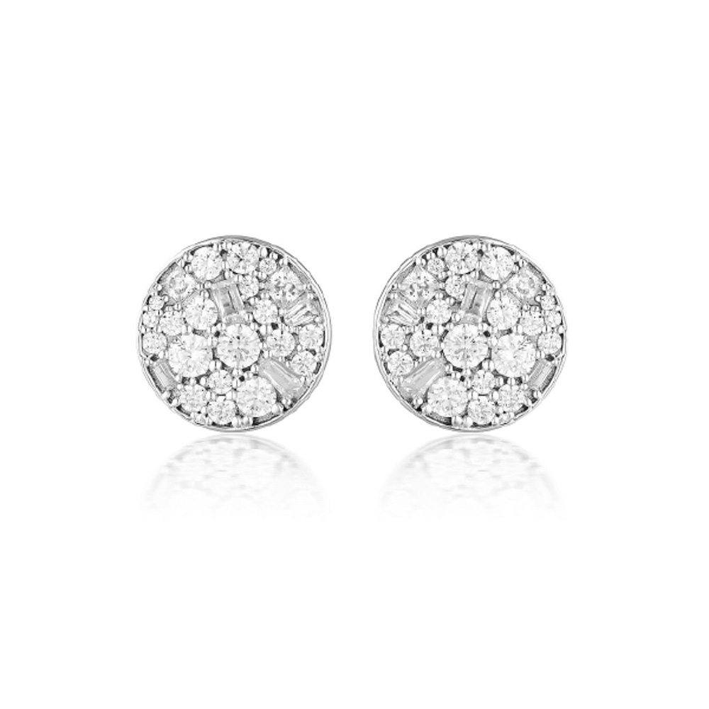 Sterling Silver Georgini Mosaic Zirconia Stud Earrings