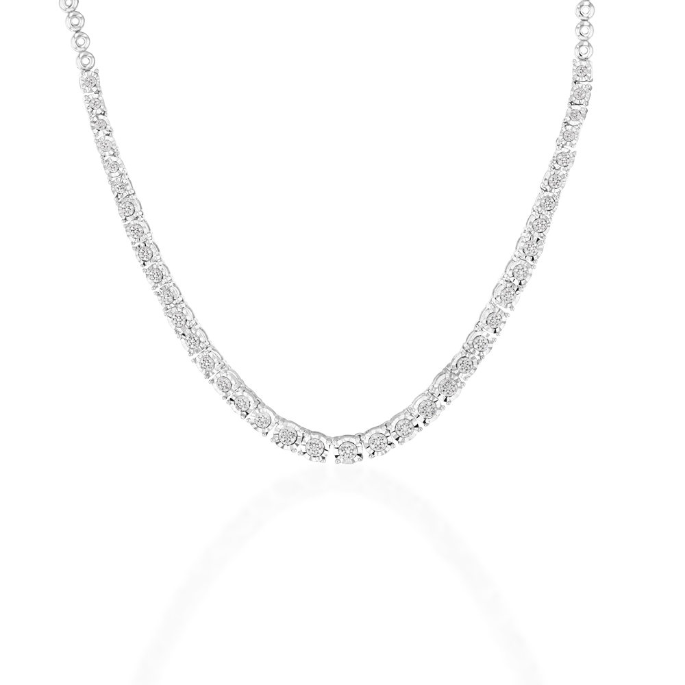 Sterling Silver 1/3 Carat Diamond Chain