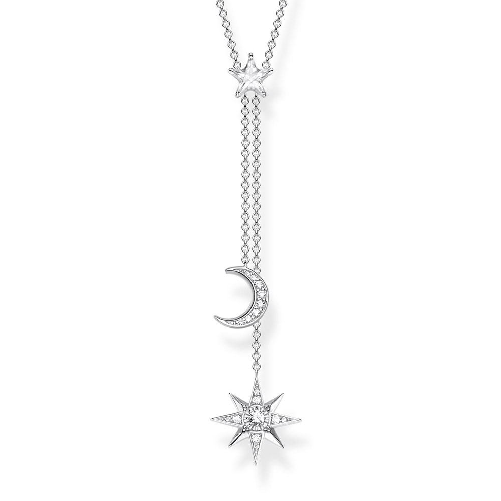 Sterling Silver Thomas Sabo Magic Star and Moon Necklace