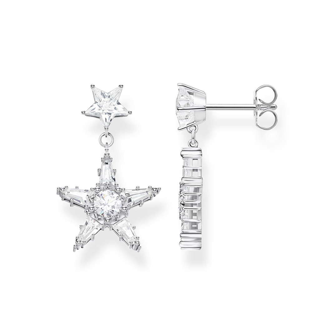 Sterling Silver Thomas Sabo Magic Star Drop Earrings
