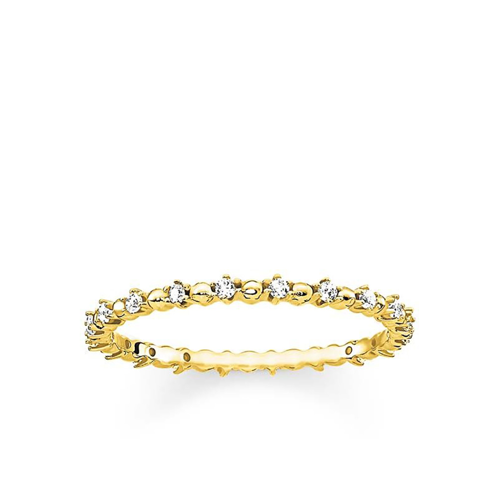 Sterling Silver and Gold Plated Thomas Sabo Fine Zirconia Ring