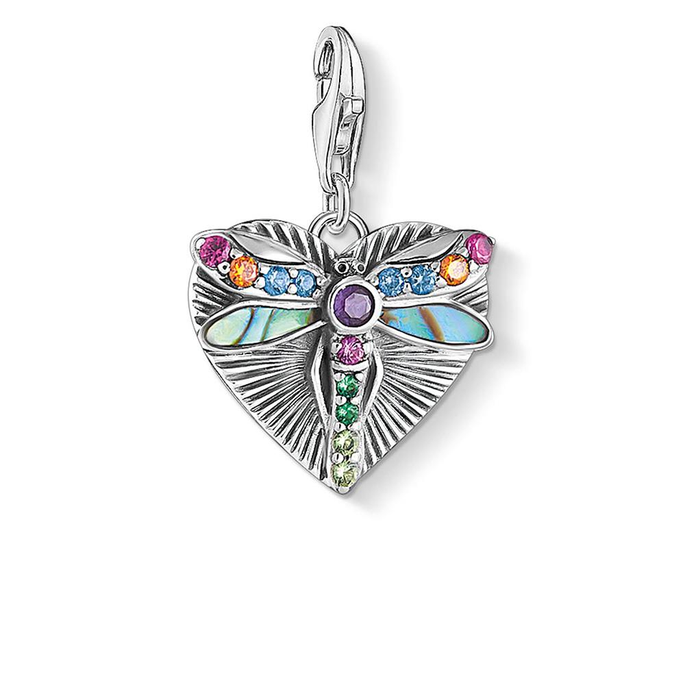 Sterling Silver Thomas Sabo Charm Club Dragonfly Heart