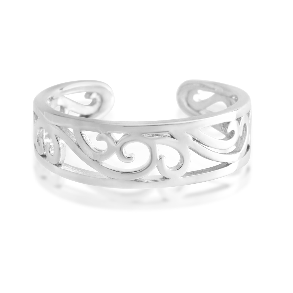 *No Exchange or Refund* Sterling Silver Toe Ring Filigree