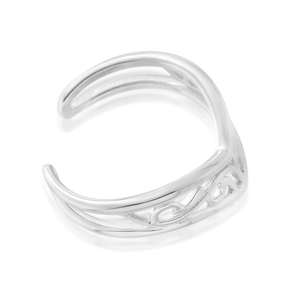 Sterling Silver Toe Ring Border Filigree