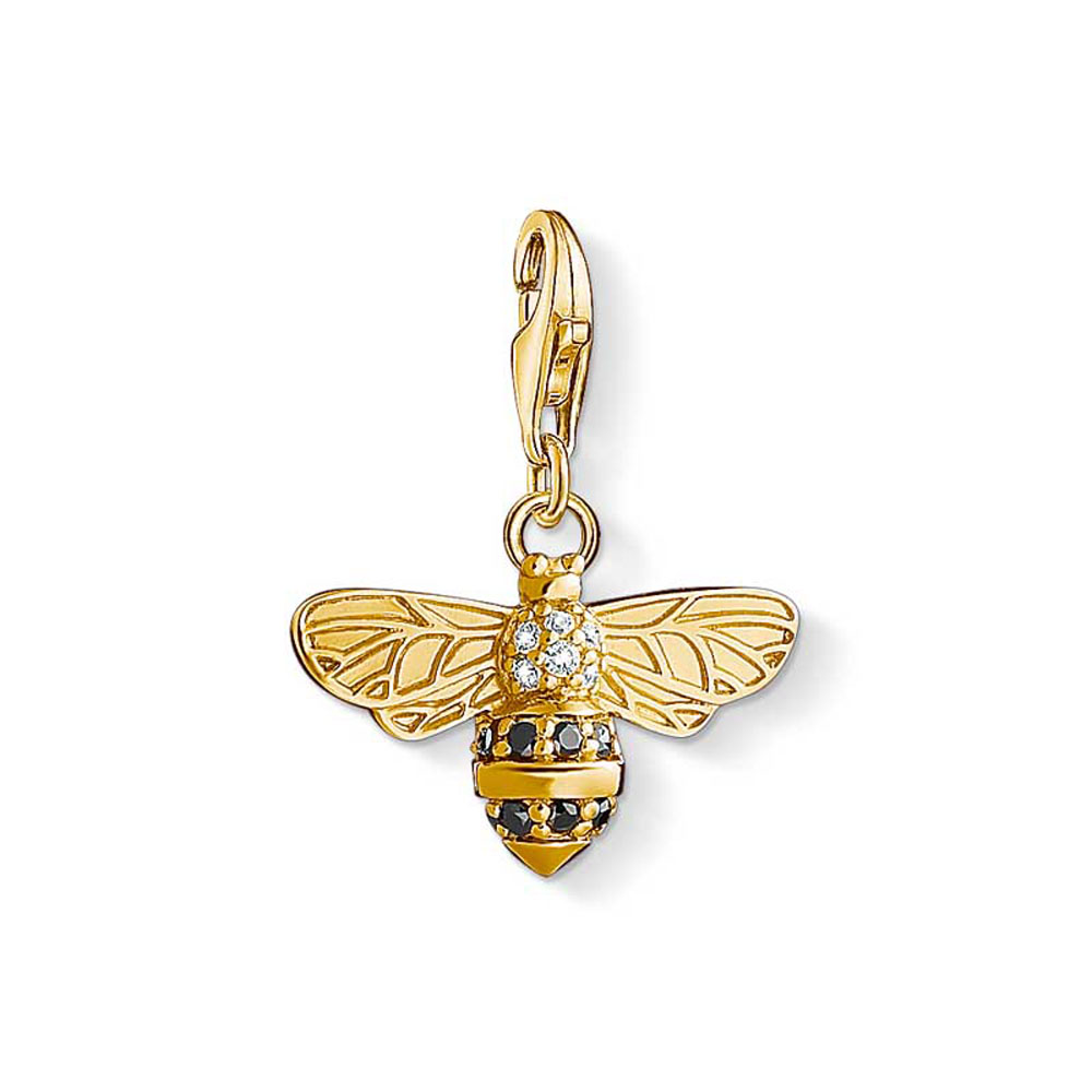 Gold Plated Sterling Silver Thomas Sabo Charm Club Bee