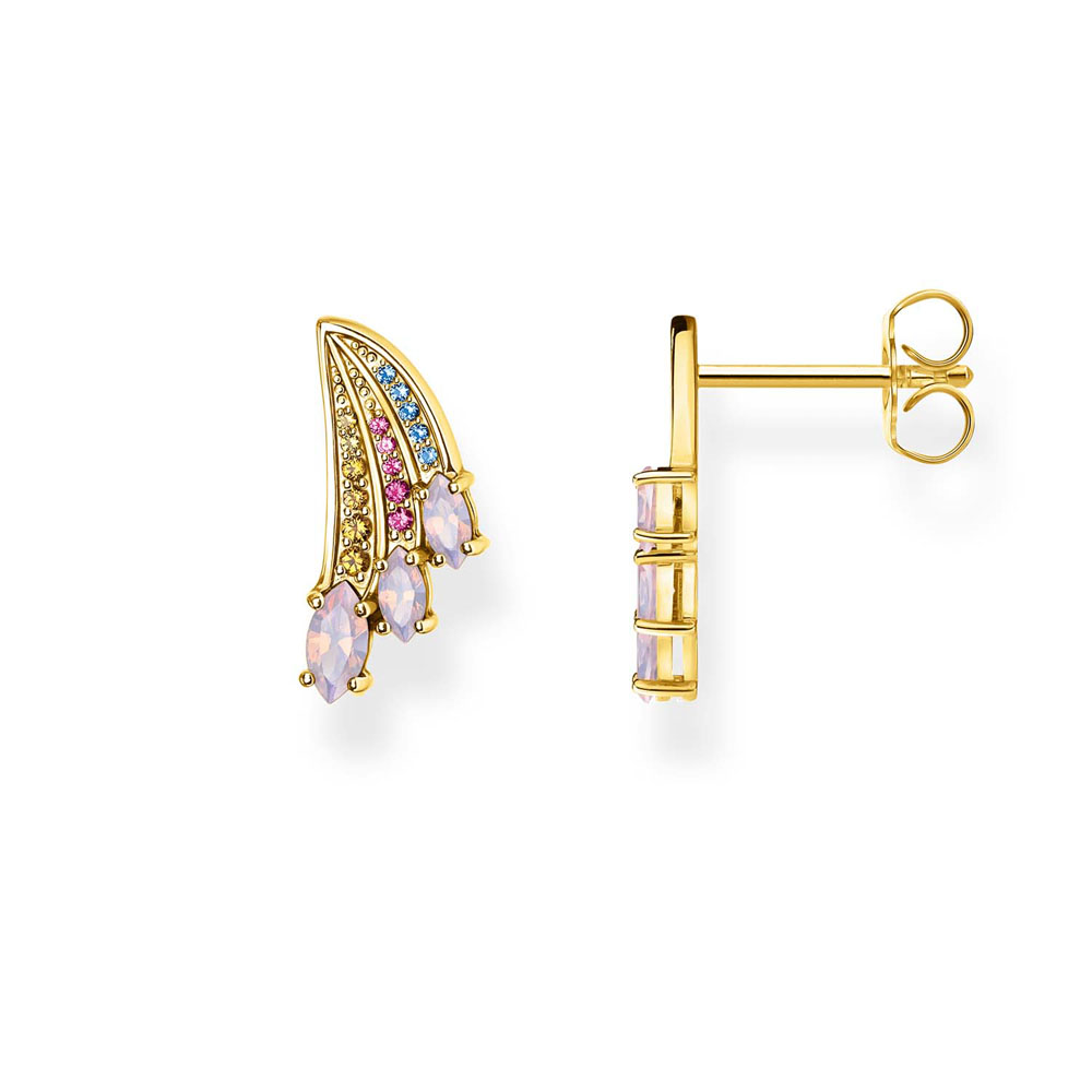 Gold Plated Sterling Silver Thomas Sabo Magic Garden Small Wing Studs