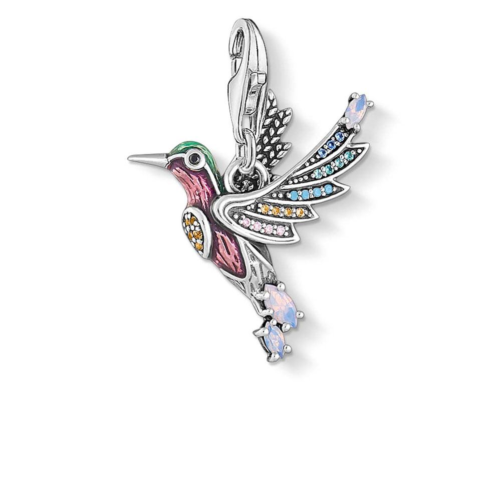 Sterling Silver Thomas Sabo Charm Club Hummingbird Pendant