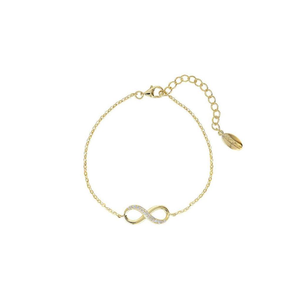 Georgini Gold Plated Sterling Silver Zirconia Forever Infinity Bracelet