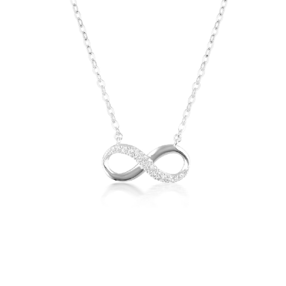 Georgini Sterling Silver Zirconia Forever Infinity Pendant
