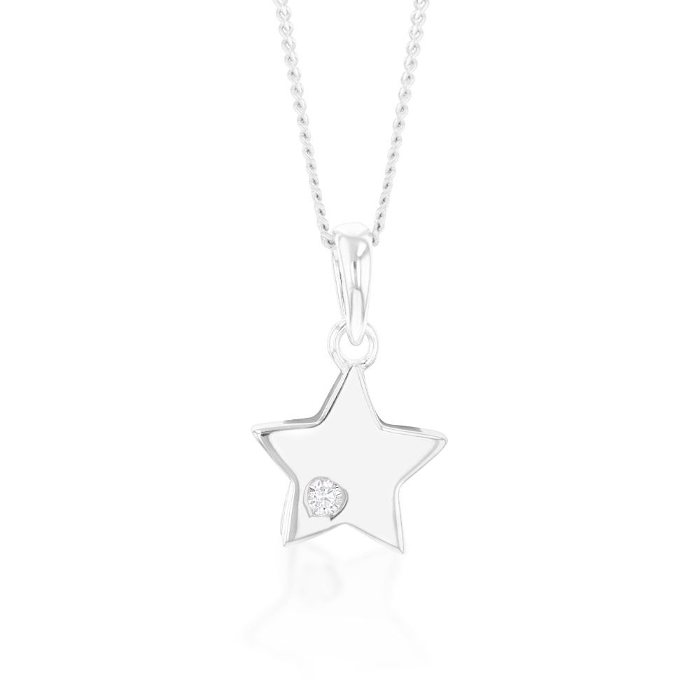 Sterling Silver Zirconia Star Pendant