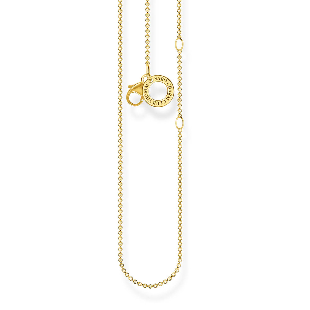 Gold Plated Sterling Silver Thomas Sabo Anchor Chain 38-45cm