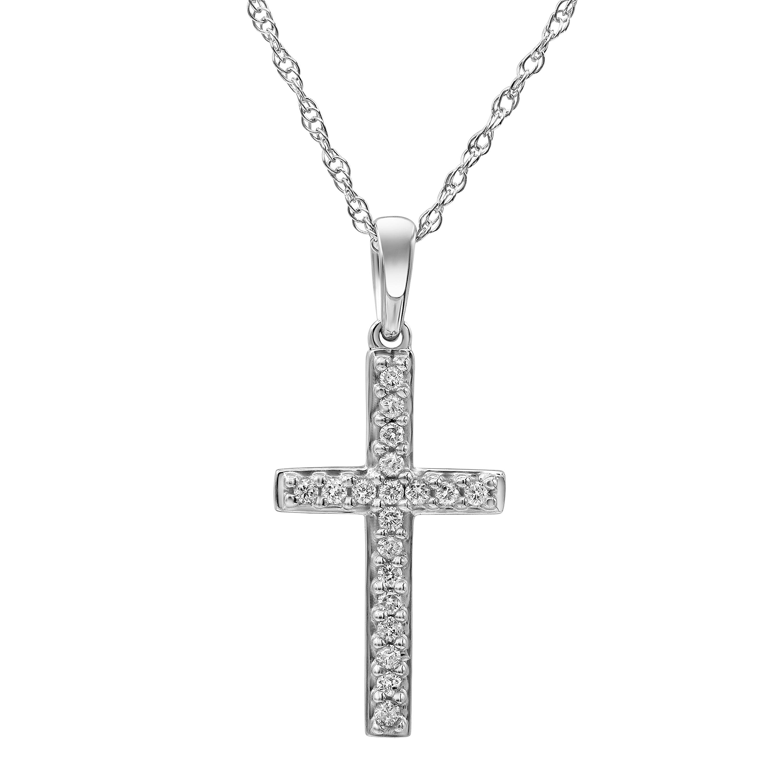 Luminesce Lab Grown Diamond 1/5 Carat Cross Pendant on 45cm Chain