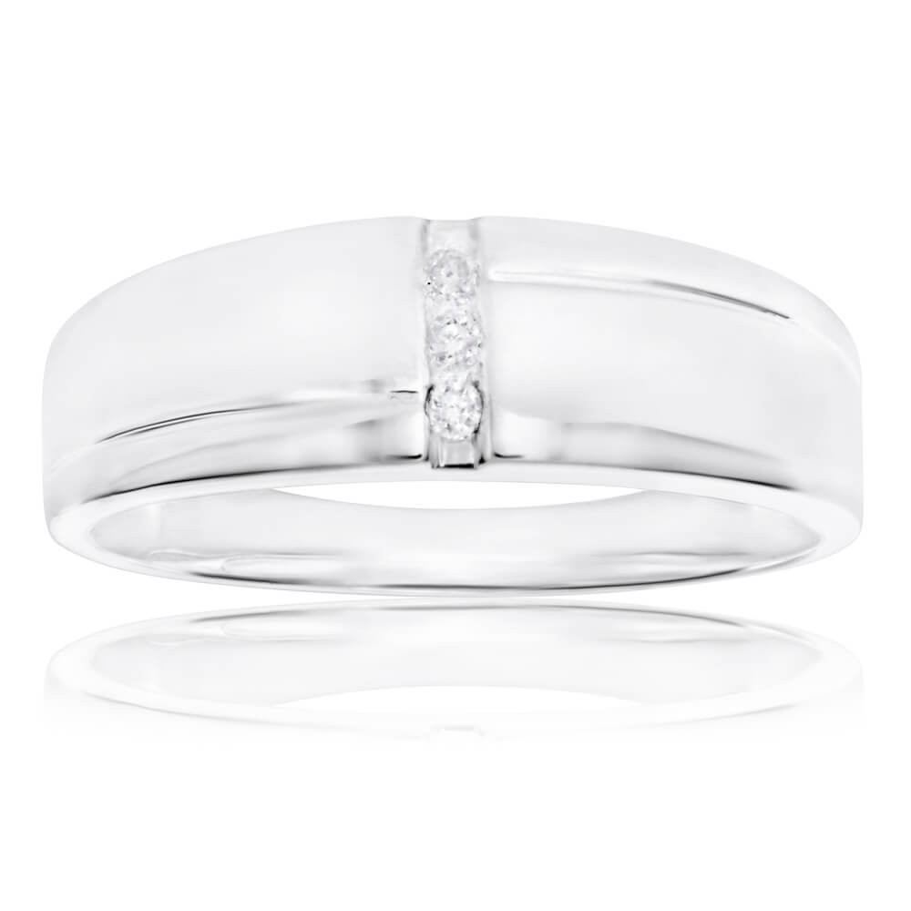 Sterling Silver 3 Diamond Ring