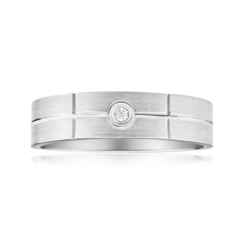 Sterling Silver Perfect Diamond Ring
