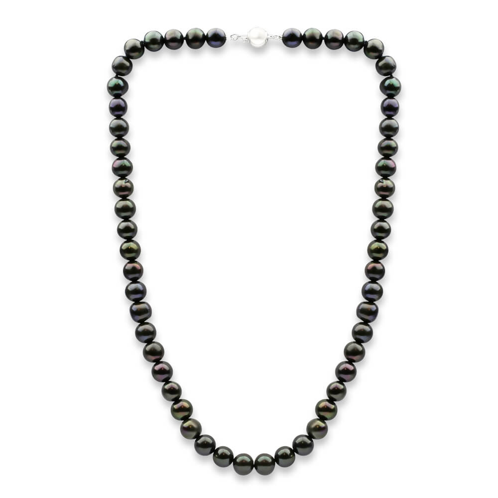 8mm Black Freshwater Pearl 45cm Necklace