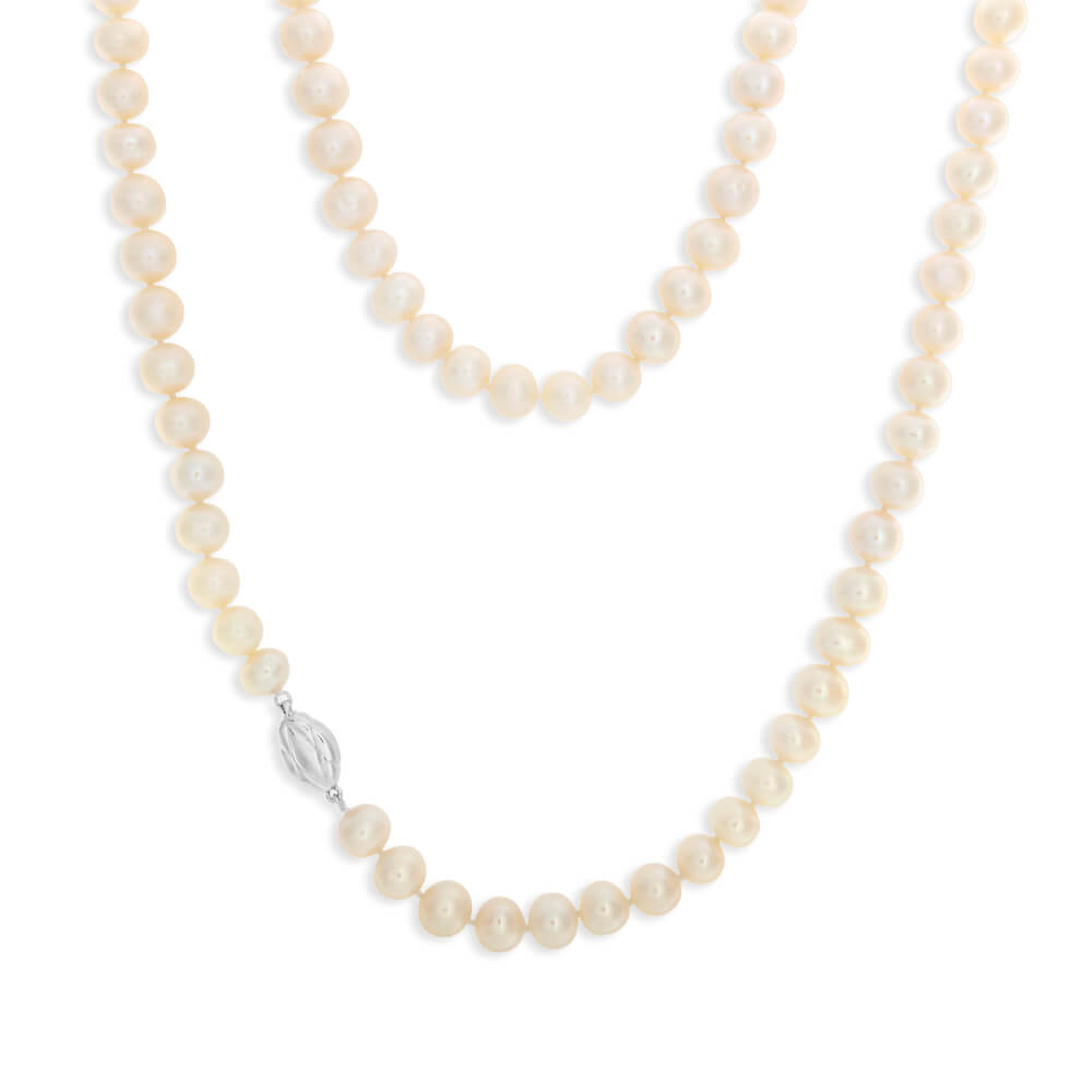 White Freshwater Strand 60cm Pearl Necklace