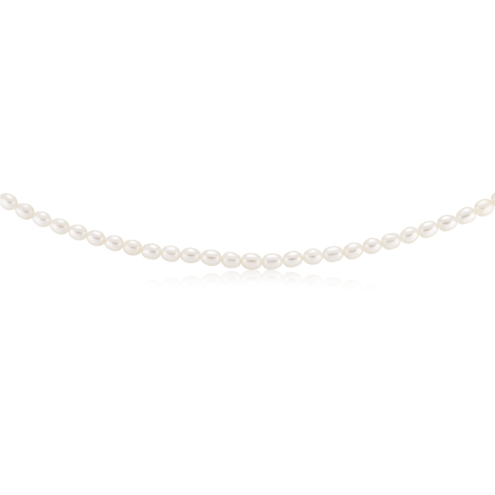 White 6-7mm Freshwater Pearl 45cm Necklace with Sterling Silver Clasp